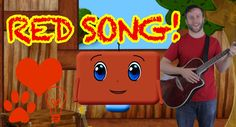 Learn the Color Red! Red Nursery, Color Songs, Kids Songs, Nursery Rhymes, Color Red, Schedule, Shapes, Learning, Yellow