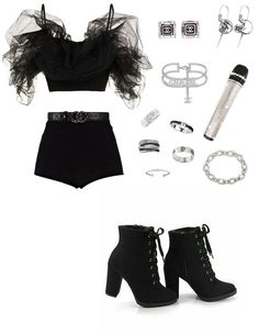 (no title) - Cute Outfits Weekly Outfits, Komplette Outfits, Kpop Fashion Outfits, Stage Outfits, Korean Outfits, Dance Outfits, Polyvore Outfits, Look Fashion, Korean Fashion