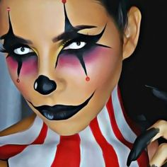 """"""" Clowning around this Halloween  we love this brilliant artistry from @tinakpromua ❤️ So amazed by her talent!! Go follow her for some last minute costume inspiration #morphehalloween"""" Photo taken by @morphebrushes on Instagram, pinned via the InstaPin iOS App! http://www.instapinapp.com (10/25/2015)"""