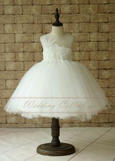 Girls Ivory Tutu Dress, Lace Tulle Flower Girl Dress ,Tulle Dress Birthday Dress Toddler Tutu Dress
