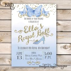 Cinderella Invitation - Download for $23.83