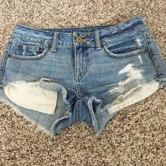 American eagle shorts The perfect pair of distressed shorts, wish they still fit! American Eagle Outfitters Shorts Jean Shorts