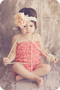 Coral Lace Petti Romper  Sizes  baby and toddler by FluffyTuffies