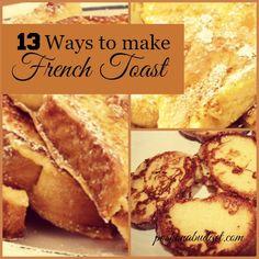 13 Ways to Make French Toast