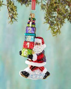 H8CCC Christopher Radko Balancing the Date Christmas Ornament