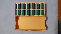 12pc Lot Vtg Belding Corticelli Dk Jade Green Silk Thread Wood Spool Orig Box sld 10.5+fr 8bds 3/6/18