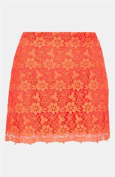 Fluorescent Lace Skirt