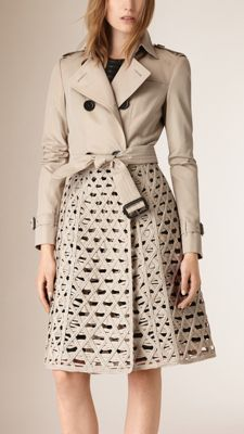 Stone Woven Cord and Cotton Gabardine Trench Coat - Image 1 Minimal Fashion, High Fashion, Winter Fashion, Womens Fashion, Punk Fashion, Lolita Fashion, Cheap Fashion, Mode Mantel, Merian