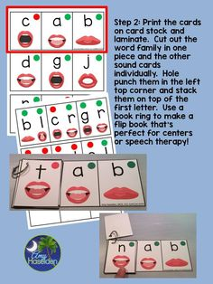 CVC flipbooks to practice. Great for students with apraxia and beginning readers!