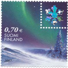 Postage Stamps, Finland, Denmark, Country, Winter, Seals, Door Bells, Animal Drawings, Winter Time