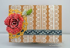 SCRAPS of (my) Life: JustRite: RIbbons, Tape and Lacy Clear Stamp Set
