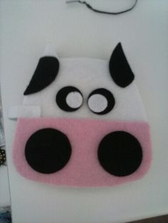 Cow felt, by using owl sizzix die cut