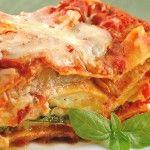 Lasagna con queso de búfala o mozzarella