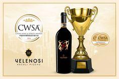 Altre buone notizie dall'Asia per la Velenosi Vini! Il China Wine & Spirits Awards ha premiato il nostro LUDI Offida Rosso DOCG 2012 con una Double Gold Medal e il TROPHY: ITALIAN WINE OF THE YEAR. Siamo davvero orgogliosi di aver ricevuto questi premi dal CWSA che si distingue come un evento di eccellenza per il crescente mercato asiatico.