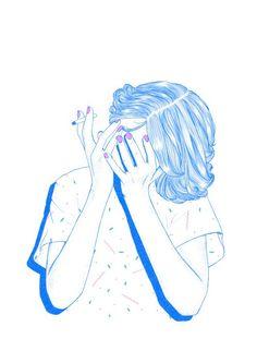chica francesa azul