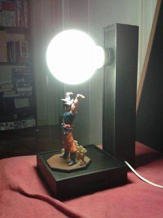 Goku spirit bomb lamp. Must find a tutorial...