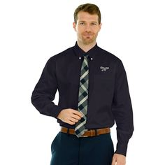 LIU Brooklyn Blackbirds Wicked Woven Long Sleeve Button-Down Shirt - Black - $47.99