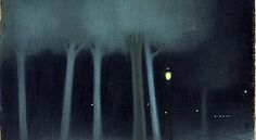 "Jozsef Rippl-Ronai (Hungarian) ""Park at night"""