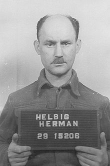 Hermann Helbig - SS chief sergeant and commander in the crematorium of Buchenwald concentration camp