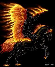 fire pegasus tattoo - Google Search