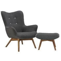 Twist lænestol og skammel Chair And Ottoman, Armchair, Concept Board, Modern Chairs, Home And Family, Sweet Home, Lounge, House Design, Couch