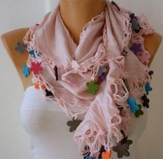 Infinity Pink Scarf - by fatwoman on Etsy