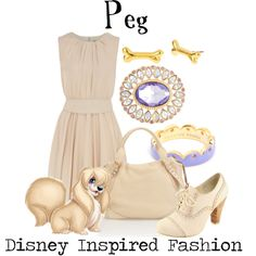 """""""Peg - from Disney's Lady and the Tramp"""" by elliekayba on Polyvore"""