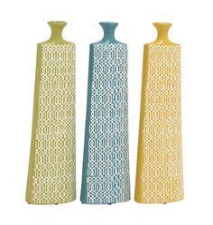 Long and Uniquely Designed Ceramic Vase