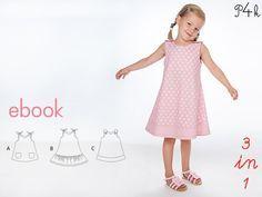 Girl dress pattern pdf Steffi. 3 model variants - Sleeveless Sundress, toddler, size 6 9 12 18 M 2 3 4 5 yrs Instant Download by pattern4kids on Etsy https://www.etsy.com/listing/202513762/girl-dress-pattern-pdf-steffi-3-model