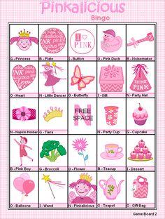 FREE Printable Pinkalicious Bingo - Games at Kid Scraps