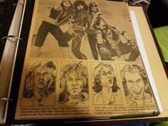 Here's a clipping from the Detroit Free Press late 76 or early 77 with what they thought they'd look like without the make-up.