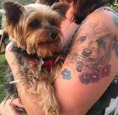 Someone's tattoo of a Yorkie!