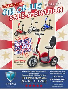 3 wheel electric scooters for adults on sale now! Up to 24,000 miles battery life standard!