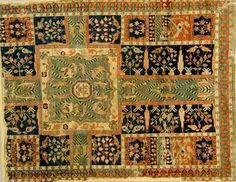 """Wagner"" chahar bagh Garden Carpet, Central Iran, Burrell Collection, Glasgow, Safavid Period, 17th c."