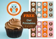 owl party printables @Natalia Drumm  Colors maybe can be changed in photoshop?