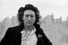 John Lennon on the rooftop of the Dakota Building, New York, 1975.