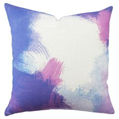 Bring a vibrant pop of style to your decor with this painterly pillow, showcasing a multicolor brushstroke motif.  Product: Pill...