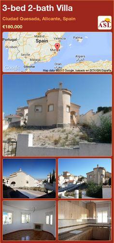 3-bed 2-bath Villa in Ciudad Quesada, Alicante, Spain ►€180,000 #PropertyForSaleInSpain
