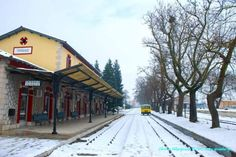 Winter time at the Railway station of Tripolis town, Arcadia region, Peloponnese, Greece Train Stations, Going Away, Winter Time, Trains, Greece, To Go, Child, Cabin, Memories