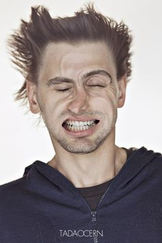 Tadao Cern's portraits taken of people blasted with air...