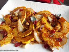 Maple Cinnamon Roasted Delicata Squash
