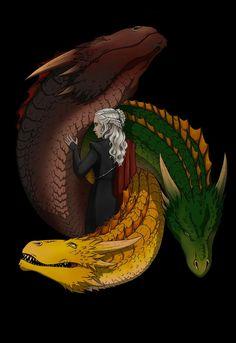 Game of thrones fanart wallpaper. Daenerys Targaryen, mother of dragons.