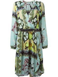465b8532af Comprar Etro vestido cruzado estampado en Veritas from the world s best  independent boutiques at farfetch.
