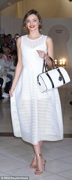 Miranda Kerr looks wonderful in white on the catwalk in Japan | Daily Mail Online