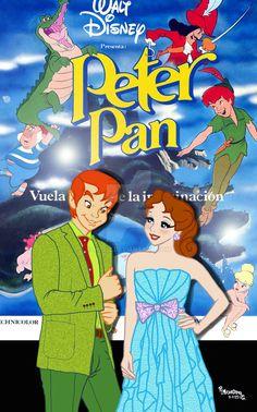 Disney Au, Disney Pins, Walt Disney, Disney Cartoon Characters, Disney Cartoons, Disney Movies, Disney University, Peter And Wendy, Childhood Movies