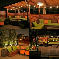 On a modest garage rooftop in Chicago's Wicker Park CSG installed an eclectic mix of elements including a shade structure of ipe and black bamboo, ipe privacy screens, mixed plantings, colorful cushions and pillows, and a lighting scheme which brings. Backyard Gazebo, Rooftop Patio, Backyard Retreat, Outside Patio, Back Patio, Pergola Shade, Diy Pergola, Outdoor Spaces, Outdoor Living