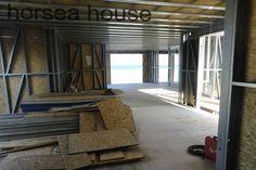 minimalism steel frame house