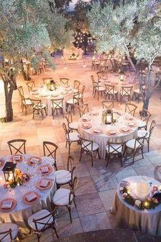 What a beautiful wedding reception setting amongst the trees. #RomanticWedding