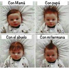 Peinados del bebé. #humor #risa #graciosas #chistosas #divertidas