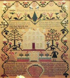 Sheepish Designs Antiques SARAH E. POPE Sampler - Counted Cross Stitch Pattern Chart - 1773 Reproduction Primitive Schoolgirl - I need to finish mine!